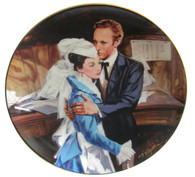 """Numbered """"Gone With the Wind"""" collector plate """"A Question of Honor"""""""