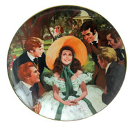 """Numbered """"Gone With the Wind"""" collector plate """"Scarlett and Her Suitors"""""""