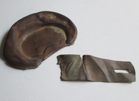 Brass Shoulder Scale recovered at Gettysburg