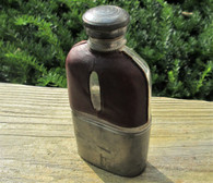 Civil War era maker-marked Whiskey Flask with pewter cup (SOLD)