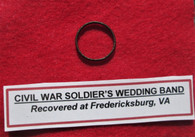 Civil War Soldier's Wedding Band recovered at Fredericksburg