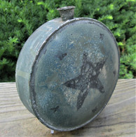 Rare Early 19th century painted Militia Canteen (SOLD)