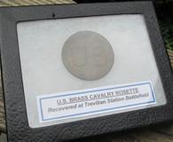 "Large Brass ""U.S."" Cavalry Rosette from battlefield (SOLD,BS)"