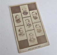 "Civil War CDV titled ""Army of the West"""