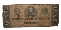 Original Confederate One-Dollar bill, 1864 (SOLD,GW)