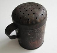 Civil War era Jappaned Tin Shaker