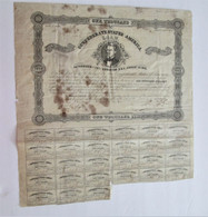 Confederate $1000 Bond w/coupons, dated 1862