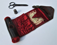 """Civil War Soldier's """"Housewife"""" Sewing Kit, with scissors"""