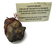 Artillery Shell Nose recovered at Pickett's Charge, Gettysburg (SOLD,ML)