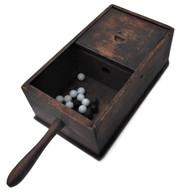 Civil War Ballot Box with glass balls
