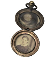Civil War Soldier's Locket with photo and lock of hair (SOLD)