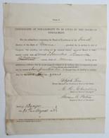 Rare Substitute Draft Document, 1863 Maine