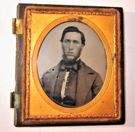 1/6 Plate Ambrotype of young man, circa 1850s - 1860s