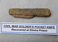 Soldier's Pocketknife dug at Elmira POW prison
