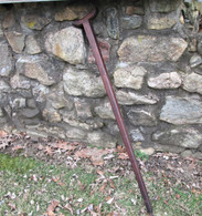 "Rare - Civil War Soldier's Crutch with initials and ""1864"""