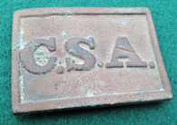 "Very Rare! Original Confederate ""CSA"" Belt Plate, Columbia (ON Layaway,STP)"