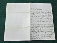 Letter belonging to Massachusetts soldier, died at Andersonville