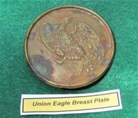 Non-dug Civil War Union Eagle Breast Plate