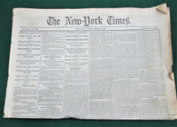 Original New York Times newspaper, March 1865