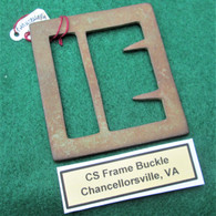 Confederate Gutter-back Frame Buckle from Chancellorsville