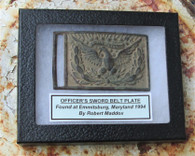Officer's Belt Plate from Gettysburg Campaign, dug Emmitsburg, 1994 (SOLD)
