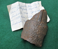 Artillery shell fragment, dug Monocacy, MD in 1980 (SOLD)