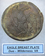 Union Breast Plate recovered at the Wilderness Battlefield