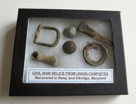 Grouping of Relics from Civil War Campsite, Maryland 3