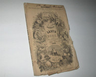 Godey's Lady's Magazine with color & b&w engravings, Dec. 1862