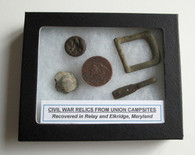 Grouping of Relics from Civil War Campsite, Maryland