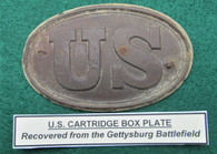 U.S. Cartridge Box Plate, dug at Gettysburg, ex-museum piece