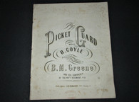 "Sheet Music, ""The Picket Guard"", 1862 - 49th PA Infantry"