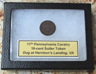 Rare - 11th Pennsylvania Cavalry Token, dug VA