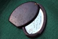Soldier's Leather covered Pocket Mirror