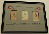 Professionally Framed Grouping of Confederate General CDVs
