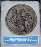 Very nice Union Eagle Breast Plate, dug at Antietam