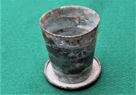 Civil War Soldier's Collapsible Brass Cup, dug Texas