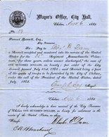 Original Massachusetts Enlistment/Bounty document for soldier killed at Antietam