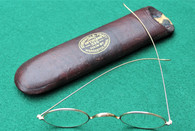 Civil War soldier's gold eyeglasses with case