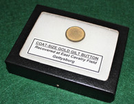 Gold-gilt button found at East Cavalry Field, Gettysburg
