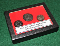 Cavalry buttons recovered from Gettysburg Battlefield