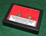 Buttons recovered off Baltimore Pike, Gettysburg