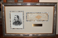 Professionally framed General Dan Sickles autograph and engraving (ON HOLD,BH)