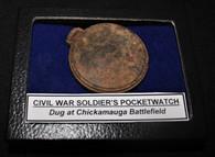 Civil War Soldier's Pocket Watch, dug Chickamauga