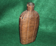 Civil War Soldier's Wicker-covered Flask, as in Gettysburg Museum