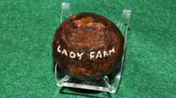 Large Iron Artillery Canister Ball, dug Lady Farm, Gettysburg