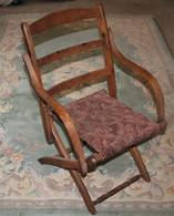 Civil War Folding Camp Armchair, as seen with General Grant and General Meade (SOLD,JW)