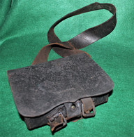 Union Civil War Cartridge Box with sling, maker-marked