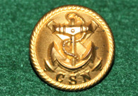 "Very Rare! Confederate ""CSN"" Navy Button, SC backmark"