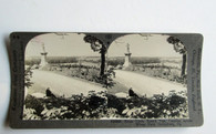 Gettysburg Stereocard of Little Rd. Top, Wheatfield and Veteran